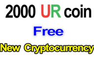 Free 2000 UR coins ! New Crypto currency , worth of  0.01 BTC